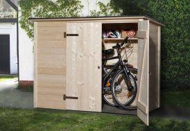 Coffre de Rangement Bois pour Vélos 84x205