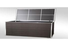 Coffre de Rangement en Resine Tressée 115x60x60cm (l,l,h)