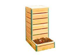 Composteur en bois PEFC imputrescible pour balcon Mon Petit Potager