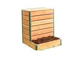 Bac à compost en bois Mon Petit Potager compact 80 x 75 cm