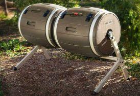 composteur à double tambour chacun de 198 litres