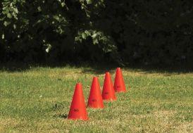 cônes d'entrainement en plastique souple 4 couleurs