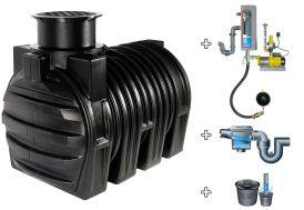 Cuve recuperateur eau Clever M 3400 L
