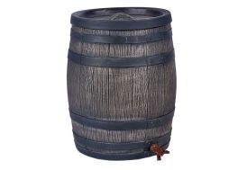 cuve de récupération d'eau de pluie en forme de tonneau en bois de vin
