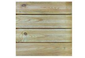 dalle de terrasse en bois de 50 x 50 cm traité autoclave