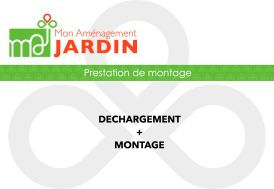Prestation de déchargement et de montage pour abris Jagram