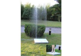 plateau douche de jardin rectangulaire à jets de 2,5 m de haut