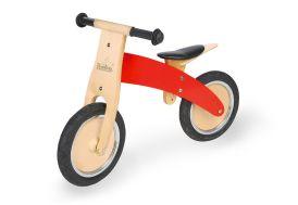 draisienne bois pour enfant rouge avec pneus en EVA