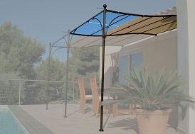 Extension pour Tonnelle Provence en Acier Chocolat et Stores 3 x 2 m