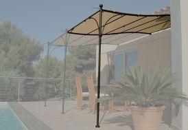 Extension pour Tonnelle Provence en Acier Chocolat et Toile 3 x 2 m