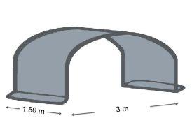 Extension 1,5 m en 2x180µ Pour Serre de Jardin Tunnel Richel Pied Droit 3m