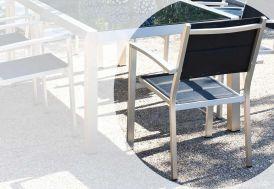 Fauteuil Jardin Aluminium + Textilène Pacific