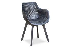 fauteuil de jardin en PVC noir perforé moderne