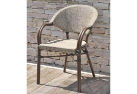 Chaise de Jardin Aluminium et Textilène Empilable