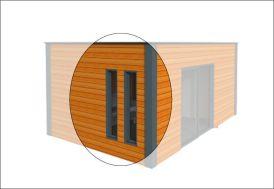 Fenêtre Fixe 40x180 cm (l,h)