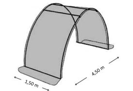 Extension 1,5 m en 2x180µ Pour Serre de Jardin Tunnel Richel 4,5 m