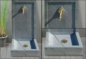 Fontaine de Jardin Grise Avalon en Béton