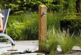 Fontaine de jardin Garantia en polyéthylène imitation bois