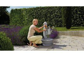 Fontaine de Jardin en Polyéthylène Imitation Pierre Garantia Roma