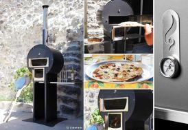 Four à Bois Pain et Pizza avec Bûcher + Plateau Fabio