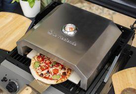 Four à pizza en inox avec thermomètre La Hacienda