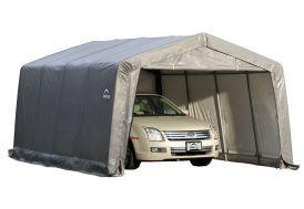 garage en acier et polyéthylène mobile et souple 18 m²