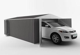 Garage en Métal Galvanisé XXL Grande Longueur 20 m²