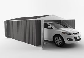 Garage en Métal Galvanisé XXL Grande Hauteur 20 m²