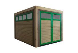 garage en bois Drive-in pour aire de jeux Axi