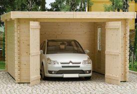Garage en Bois 44 mm Plum (548x398cm)