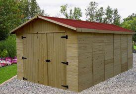 Garage en Bois d'Épicéa Brut 15 m²