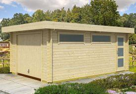 Garage en Bois d'Épicéa Brut Porte Basculante Canberra