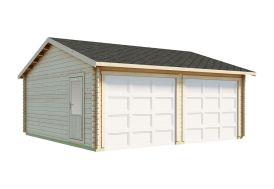 garage en bois garage double en épicéa luoman koski