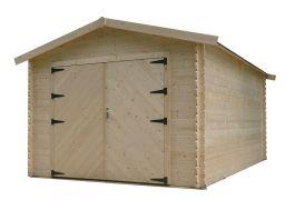 garage en bois double porte battante avec épaisseur du bois de 28 mm