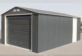 Garage en Métal Anthracite Duramax Grande Hauteur 350x570x260cm (l,l,h)