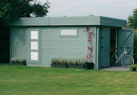 Garage Bois Moderne 40 mm (358x538cm)