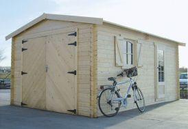 Garage Bois 40 mm (358x538cm) S8944
