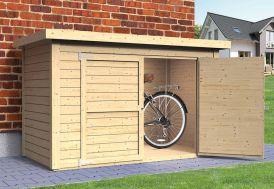 Abri à vélos en bois de sapin brut Cykel