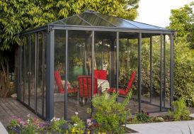 jardin d'hiver fermé couleur gris anthracite 295 ou 360 cm