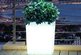 Jardinière Lumineuse Blanche 60x31x70cm(l,l,h)