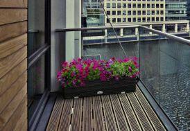 Jardinière pour Balcon en Résine Tressée 80x16x21cm (l,l,h)