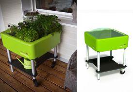 Carré Potager sur Pieds Premium Vert Réglable French Garden