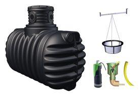 cuve de récupération d'eau de pluie kit complet 1600 litre