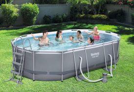 Kit piscine bestway en acier forme ovale