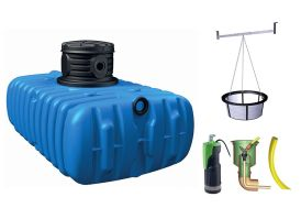 Cuve de récupération d'eau de pluie extra-plate 1500 litres