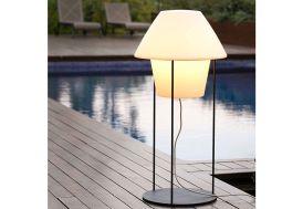Lampadaire Blanc sur Secteur avec Support en Acier Noir 79cm
