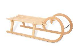 Luge en bois Pinolino avec cornes pour enfant et adulte