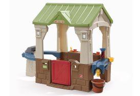 cabane pour enfants 3 activités : eau, jardinage, dinette barbecue