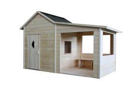 Cabane pour enfant dès 3 ans avec abri couvert