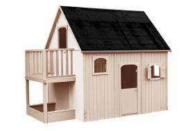 grande maison d'enfant en bois pour le jardin avec mezzanine